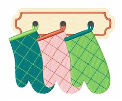 Oven Gloves embroidery design
