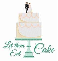 Eat Cake embroidery design