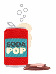 Soda Pop Can embroidery design