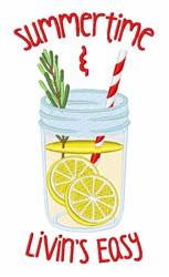 Summertime Drink embroidery design