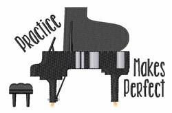 Piano Practice embroidery design