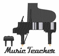 Music Teacher embroidery design