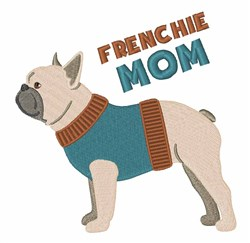 Frenchie Mom embroidery design