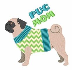 Pug Mom embroidery design