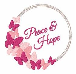 Peace & Hope embroidery design