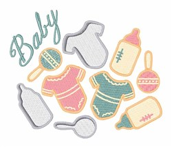 Baby Items embroidery design