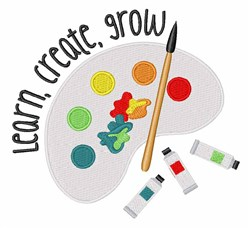 Learn Create Grow embroidery design