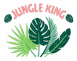 Jungle King embroidery design