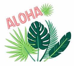 Aloha Plants embroidery design
