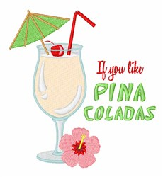 Pina Colada embroidery design
