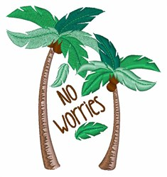 Wo Worries embroidery design