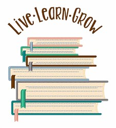 Live Learn Grow embroidery design