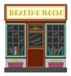 Reading Room embroidery design