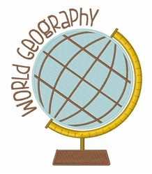 World Geography embroidery design