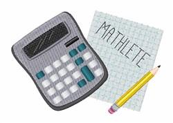 Mathelete embroidery design