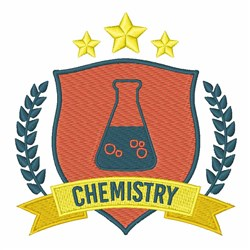 Chemistry Crest embroidery design