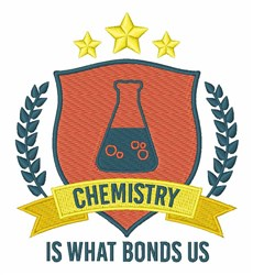 Chemistry Bonds Us embroidery design
