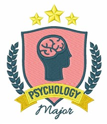 Psychology Major embroidery design