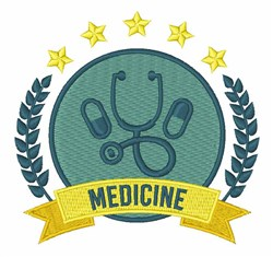 Medicine embroidery design