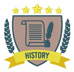 History embroidery design