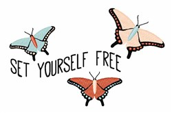 Set Yourself Free embroidery design