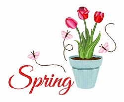 Spring Tulip embroidery design