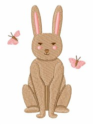 Bunny Butterflies embroidery design