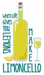 Make Limoncello embroidery design