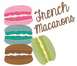 French Macarons embroidery design
