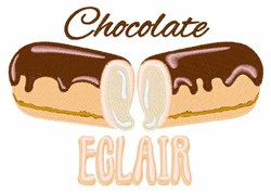 Chocolate Eclair embroidery design