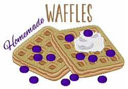 Homemade Waffles embroidery design