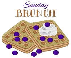 Sunday Brunch embroidery design