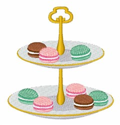 Macarons embroidery design