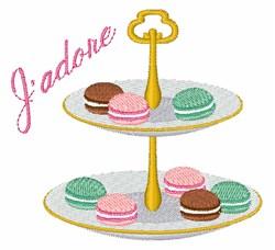 Jadore Macaroons embroidery design