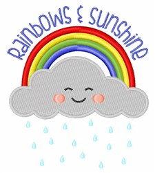 Rainbows & Sunshine embroidery design