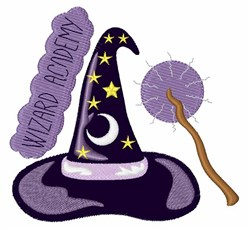 Wizard Academy embroidery design