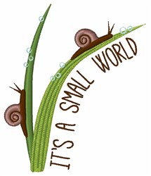 Small World embroidery design