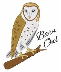 Barn Owl embroidery design