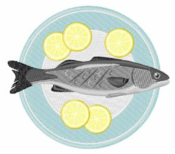 Fish Plate embroidery design