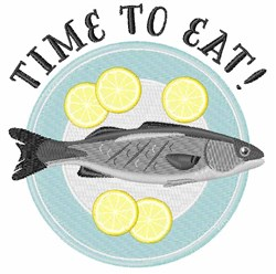 Time To Eat embroidery design