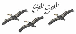 Set Sail embroidery design