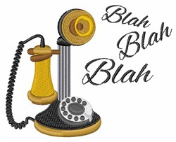 Blah Blah Telephone embroidery design
