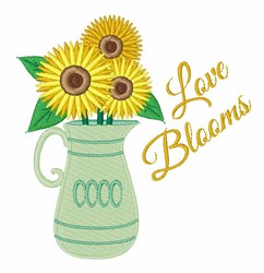 Love Blooms embroidery design