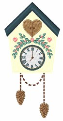Cuckoo Clock embroidery design