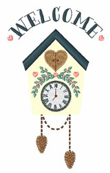 Welcome Clock embroidery design