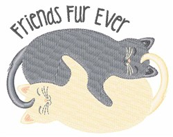 Friends Fur Ever embroidery design