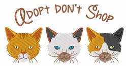 Adopt Cat embroidery design