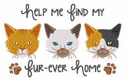 My Fur-ever Home embroidery design