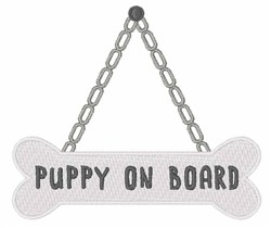 Puppy On Board embroidery design
