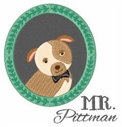 Mr Pittman embroidery design